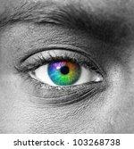 Colorful Eye Extreme Close Up