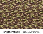 army camouflage texture  green... | Shutterstock . vector #1032691048