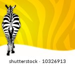 Illustration Of A Zebra With...