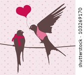 romantic vector illustration... | Shutterstock .eps vector #103269170