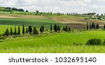 beautiful green landscape with... | Shutterstock . vector #1032695140