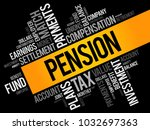pension word cloud collage ... | Shutterstock .eps vector #1032697363