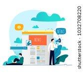 news update  online news ... | Shutterstock .eps vector #1032708220