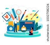 design studio  designing ... | Shutterstock .eps vector #1032708226