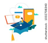 education  online training... | Shutterstock .eps vector #1032708340
