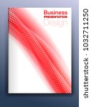 brochure red cover template... | Shutterstock . vector #1032711250