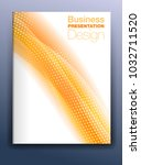 brochure orange cover template... | Shutterstock . vector #1032711520