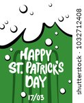 st. patrick's day greeting.... | Shutterstock .eps vector #1032712408