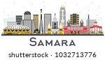 samara russia city skyline with ... | Shutterstock .eps vector #1032713776