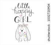cute bunny.cartoon hand drawn... | Shutterstock .eps vector #1032720904