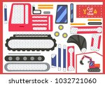 cut and glue the paper... | Shutterstock .eps vector #1032721060