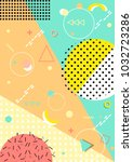 pattern background with lines ... | Shutterstock .eps vector #1032723286