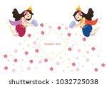 thai angel fairy character... | Shutterstock .eps vector #1032725038