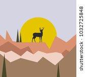 scandinavian style vector... | Shutterstock .eps vector #1032725848