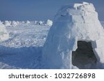 winter dwelling of eskimos.... | Shutterstock . vector #1032726898