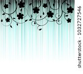 floral background  ornament ... | Shutterstock . vector #1032727546