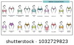 woman bikini types collection... | Shutterstock .eps vector #1032729823
