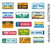 vehicle registration number... | Shutterstock .eps vector #1032729838