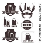beer rubber stamp. isolated... | Shutterstock .eps vector #1032740359