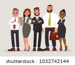 business team. international... | Shutterstock .eps vector #1032742144
