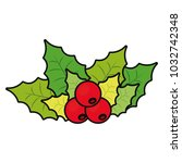 mistletoe icon image   Shutterstock .eps vector #1032742348