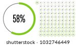 set of circle percentage... | Shutterstock .eps vector #1032746449