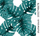 watercolor seamless pattern... | Shutterstock . vector #1032748678