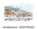 varanasi city in uttar pradesh  ... | Shutterstock .eps vector #1032749263