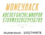 bank notes alphabet letters and ... | Shutterstock .eps vector #1032749878