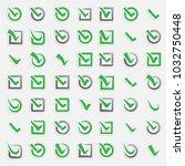 checkbox vote marks vector...