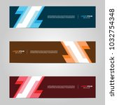 modern banner template design... | Shutterstock .eps vector #1032754348