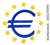 euro sign over white background | Shutterstock . vector #103275590