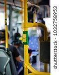 stop button in the bus. urban... | Shutterstock . vector #1032758953