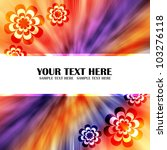 flower colorful abstract... | Shutterstock . vector #103276118
