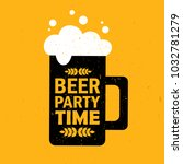 mug with beer and english text  ... | Shutterstock .eps vector #1032781279