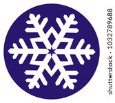 white snowflake at blue circle... | Shutterstock .eps vector #1032789688