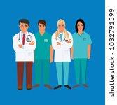 doctors  medical personnel ...   Shutterstock .eps vector #1032791599