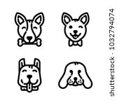 dogs icon set | Shutterstock .eps vector #1032794074