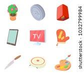 dwelling icons set. cartoon set ... | Shutterstock .eps vector #1032799984