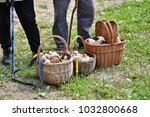 grandparents with the basket of ...   Shutterstock . vector #1032800668