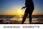 fishermen working repairing... | Shutterstock . vector #1032802774