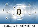 bitcoin digital money network... | Shutterstock .eps vector #1032803143