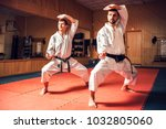 martial arts masters training... | Shutterstock . vector #1032805060