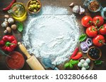 ingredients and spices for... | Shutterstock . vector #1032806668