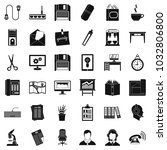 office machines icons set.... | Shutterstock .eps vector #1032806800
