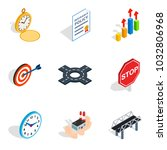 stress relief icons set.... | Shutterstock .eps vector #1032806968
