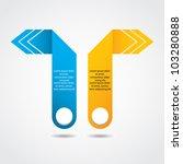 abstract origami speech bubble... | Shutterstock .eps vector #103280888