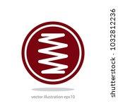 spring icon vector | Shutterstock .eps vector #1032812236