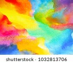 abstract art rainbow colorful... | Shutterstock . vector #1032813706