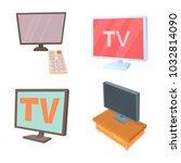tv lcd icon set. cartoon set of ... | Shutterstock .eps vector #1032814090